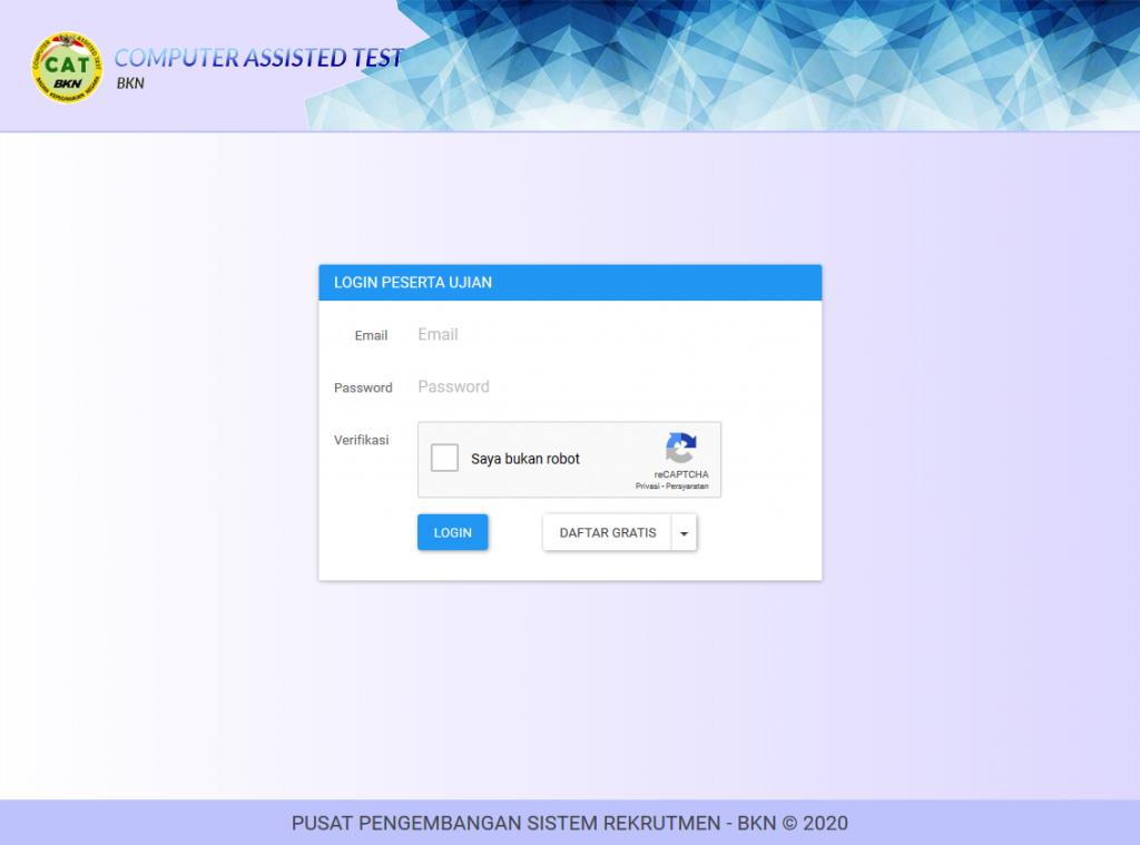 Pendaftaran Simulasi CAT BKN Online Resmi