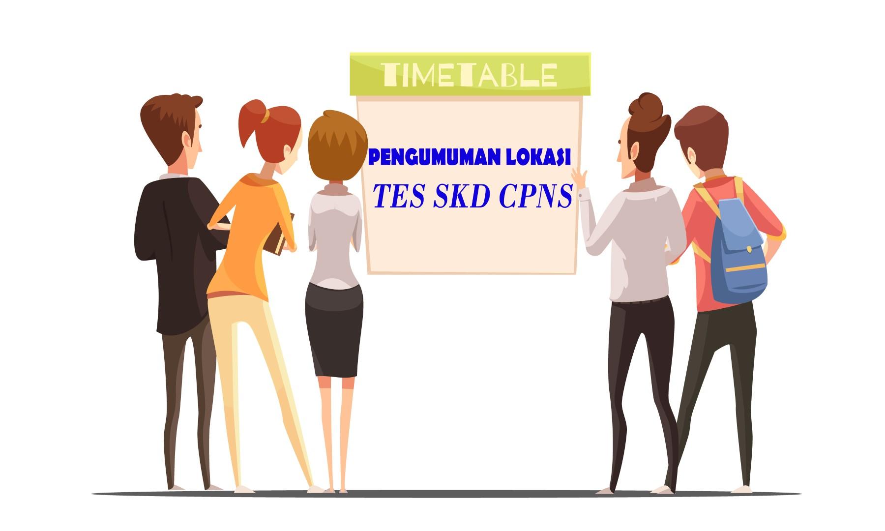 Pengumuman Lokasi Tes SKD CPNS