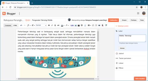 Langkah 2 Cara Membuat Postingan di Blogger Isikan Judul dan Isi Postingan
