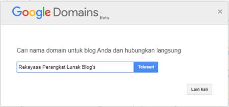 Langkah 6 Membuat Blog Penawaran Domain Dari Google